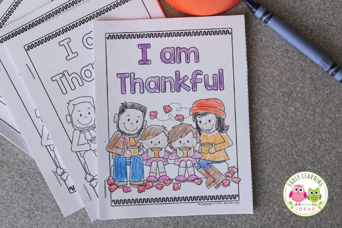 Thanksgiving Emergent Reader Free Printable - Early Learning Ideas