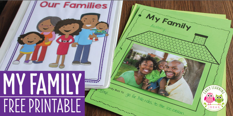 How to make a Class Book with this Free Family Theme Printable
