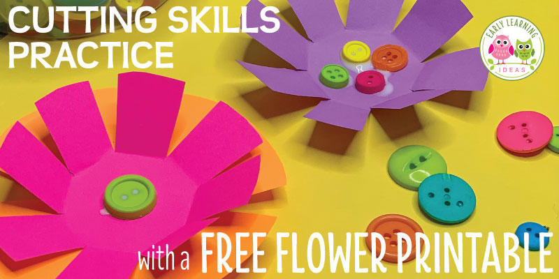 How to Improve Cutting Skills with a Free Flower Printable - Early