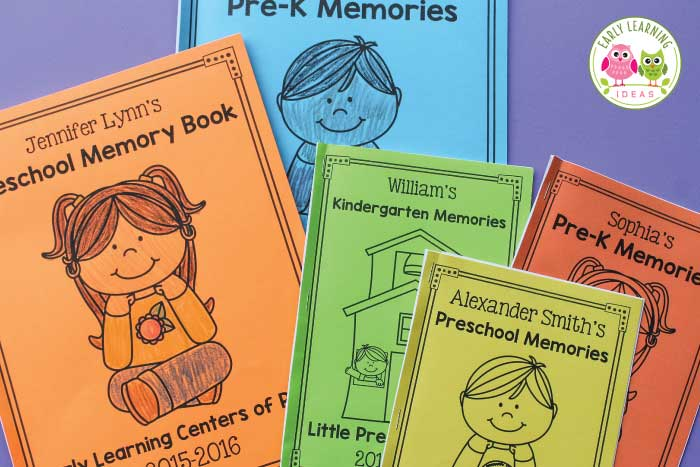 How to Make a Preschool Memory Book a Perfect End of Year Activity