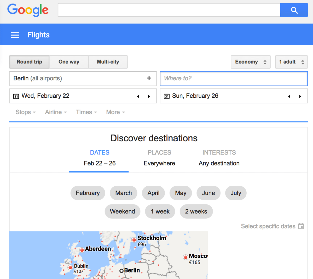 Google Flights Google Flights Searches Going Through The Roof Early Moves