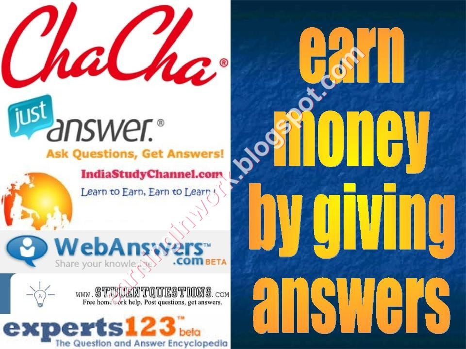 online jobs get paid to answer