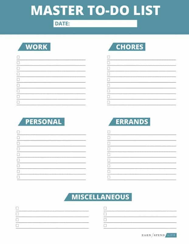Totally Organized Get the Most Out of Your To-Do List - Earn Spend Live