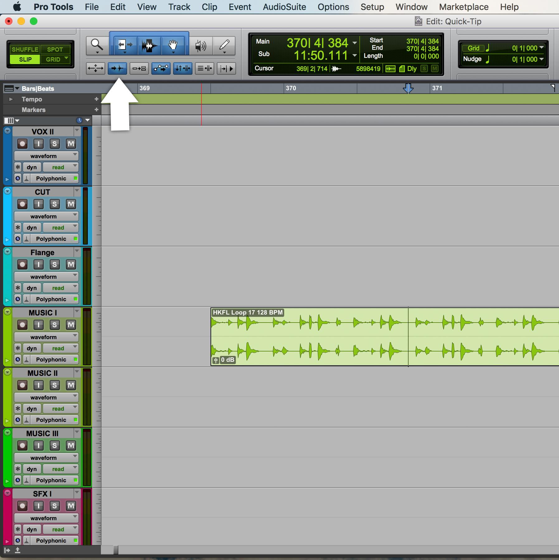 Enable tab to transient