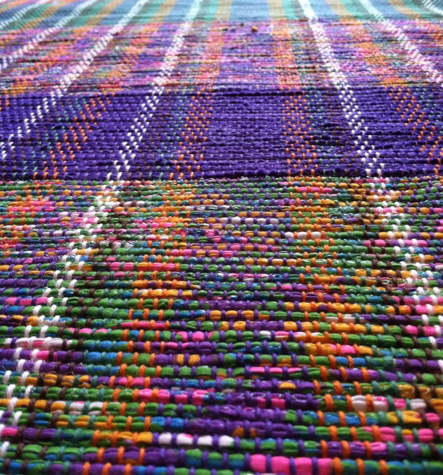 These Old School Rugs Are Woven Out Of Plastic Bags