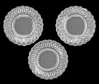 Lace-Edged Plates, 3Pc Crystal Clear Plastic [CB153CL ...