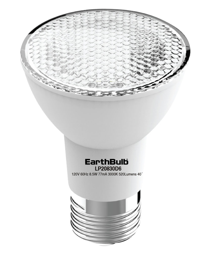 40 Watt In Lumen 520 Lumen 8 5 Watt Par20 Earthbulb Led Earthtronics
