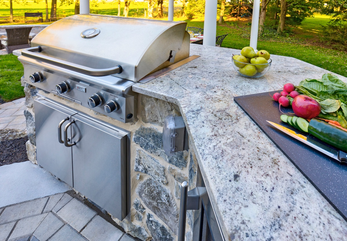 Outdoor Countertops Material Outdoor Kitchen Countertop Details Materials And Ideas