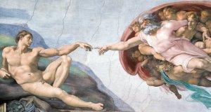 michelangelo God creates Adam
