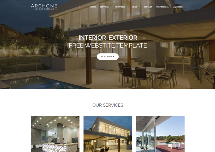 Interior Design Website Templates Free Download - Ease Template