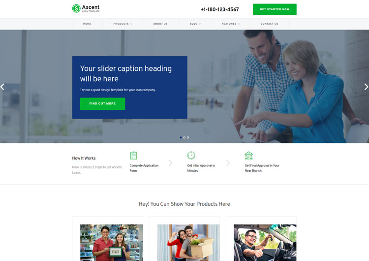 Ascent Loan Business Responsive Website Templates - Ease Template - loan templates