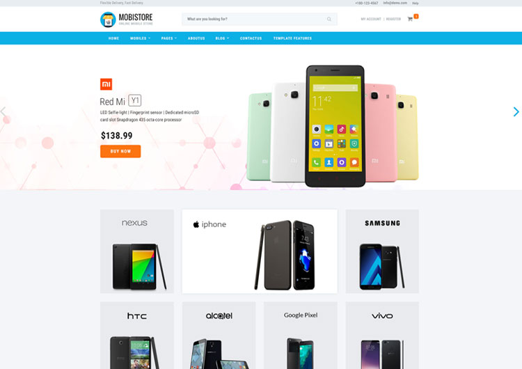 Online Mobile Store Shopping Website Template - Ease Template