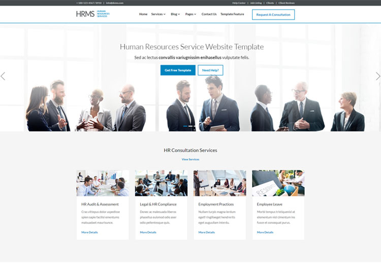 HRMS Human Resource Management Responsive Template - Ease