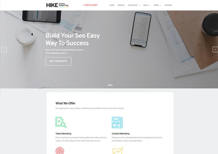 Digital Marketing Website Template - Hike Bold Design - Ease