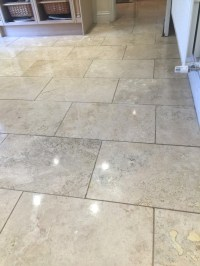 Renovating Travertine Kitchen Floor Tiles in Sanderstead ...