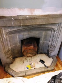 Restorative Cleaning of a Stone Fireplace in Brighton ...