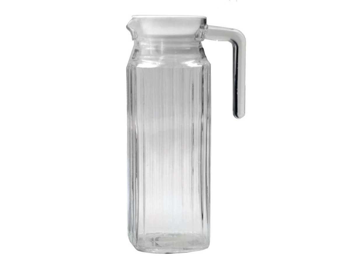 Small Glass Pitcher With Lid Fridge Door 1lt Picnic Water Glass Serving Jug Pitcher