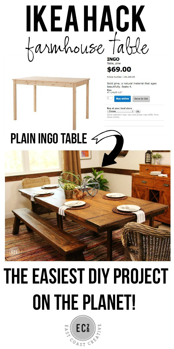 Couchtisch Hack Ikea Hack: Build A Farmhouse Table The Easy Way!