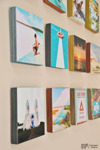 DIY Wood Block Instagram Wall Art