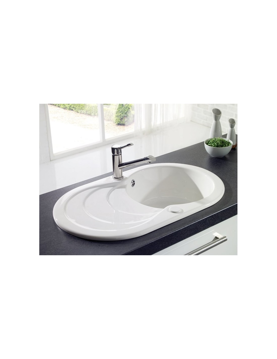 Ceramic Kitchen Sink Thomas Denby Sonnet So1b 1 Bowl Sink White Glossy