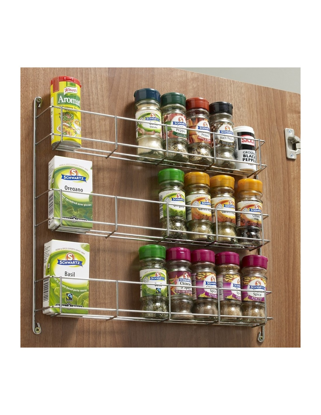 Creative Spice Storage Two Tier Strorage Rack For Panels Or Kitchen Door Fixing