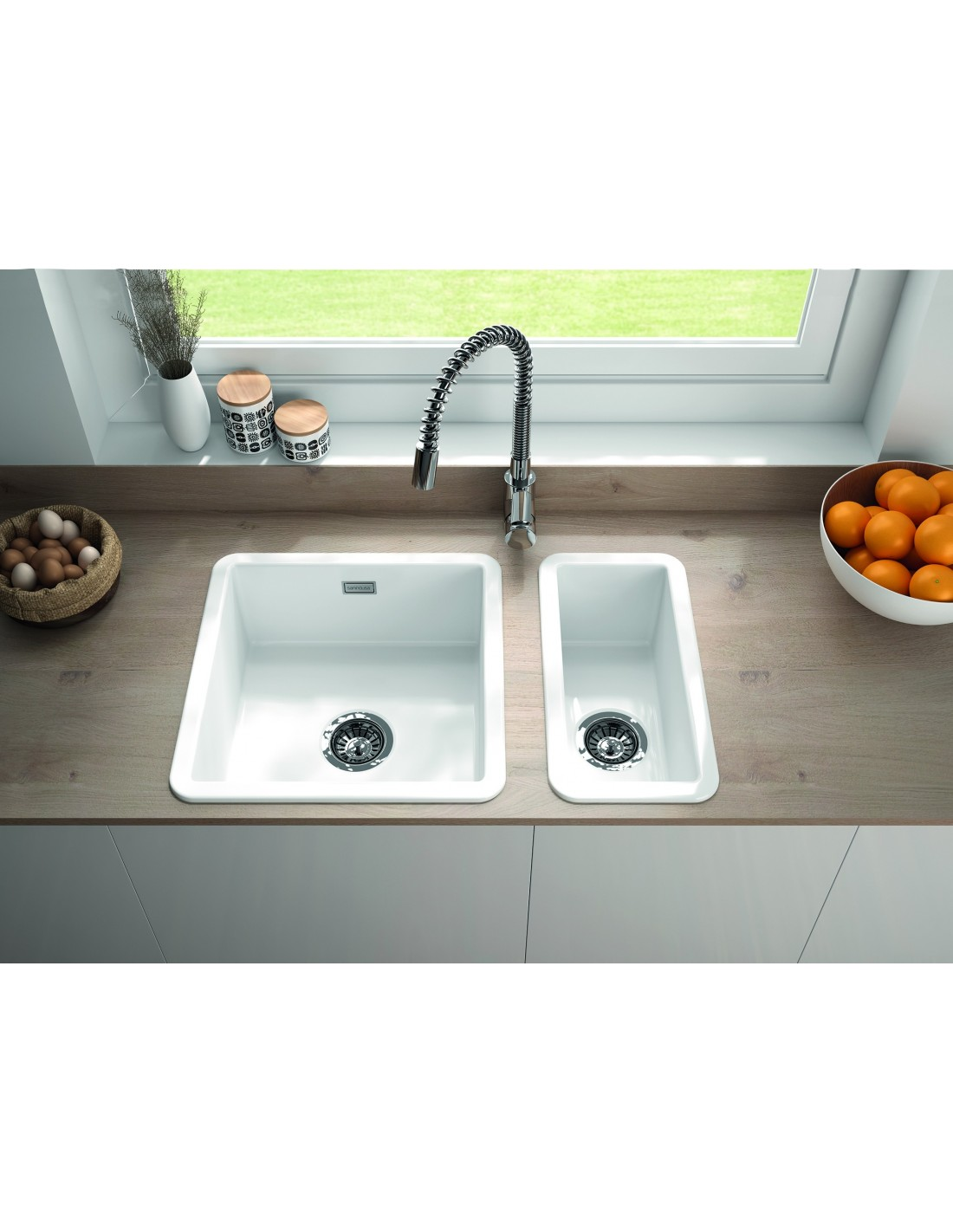 Ceramic Kitchen Sink Metro By Thoms Denby Met1040 1 Bowl Ceramic Sink