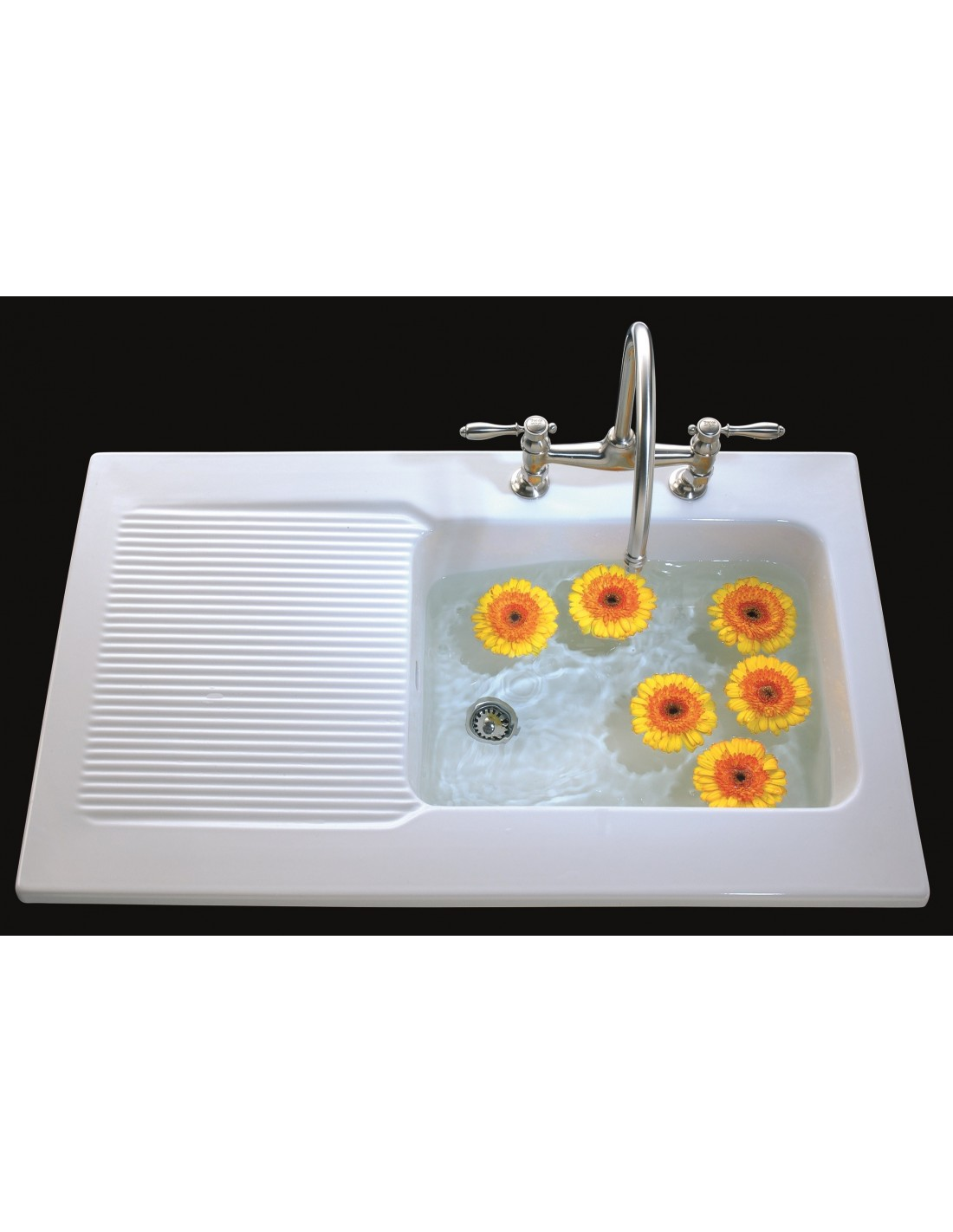 Ceramic Kitchen Sink Ev6738 Villeroy And Boch Provence Ceramic Sinks Sit On