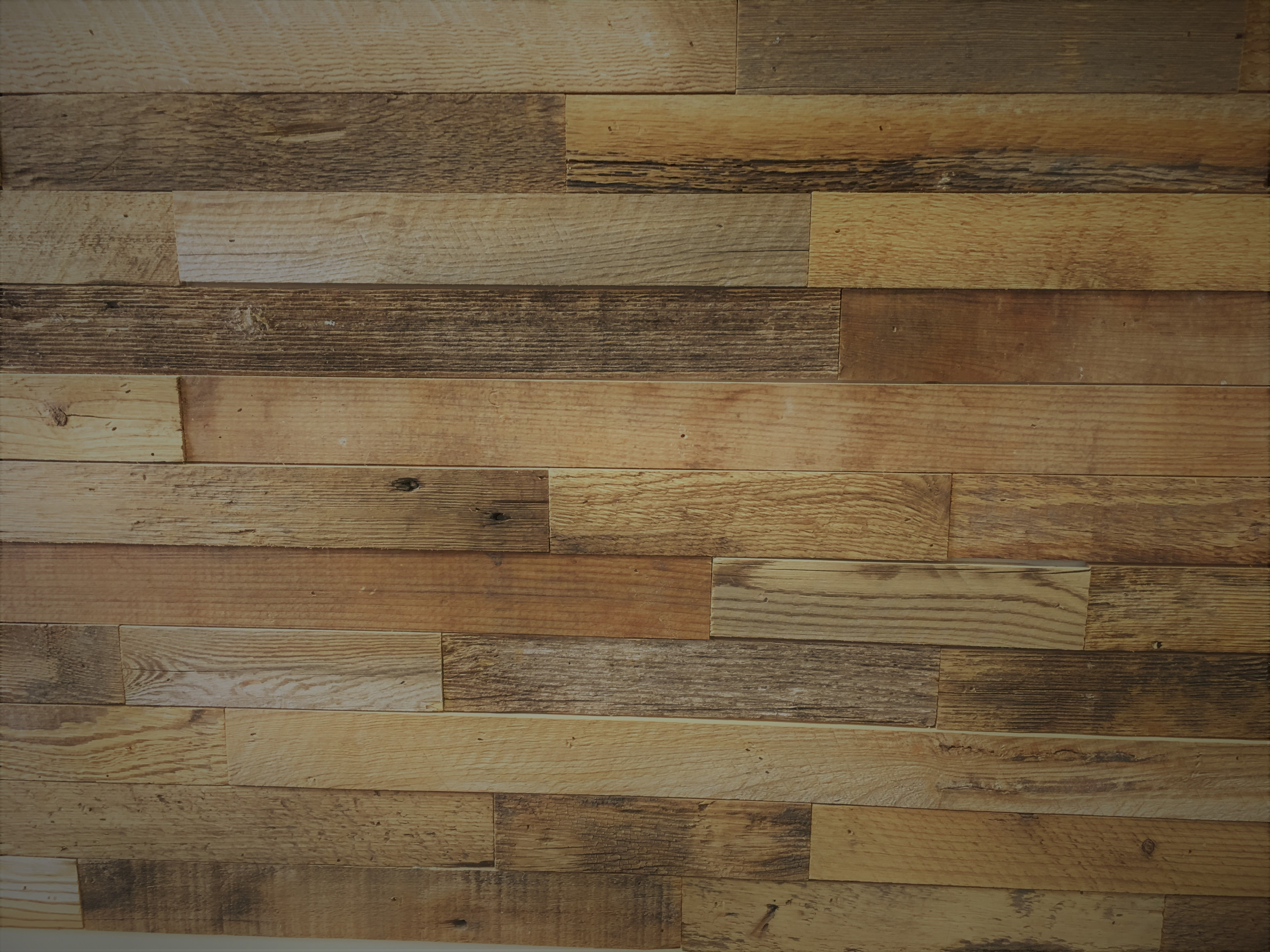 Wall With Wood Diy Reclaimed Wood Accent Wall Brown Natural 2 Inch Wide
