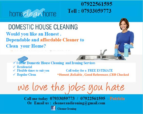 We can make your House sparkle with Patricia House cleaning services