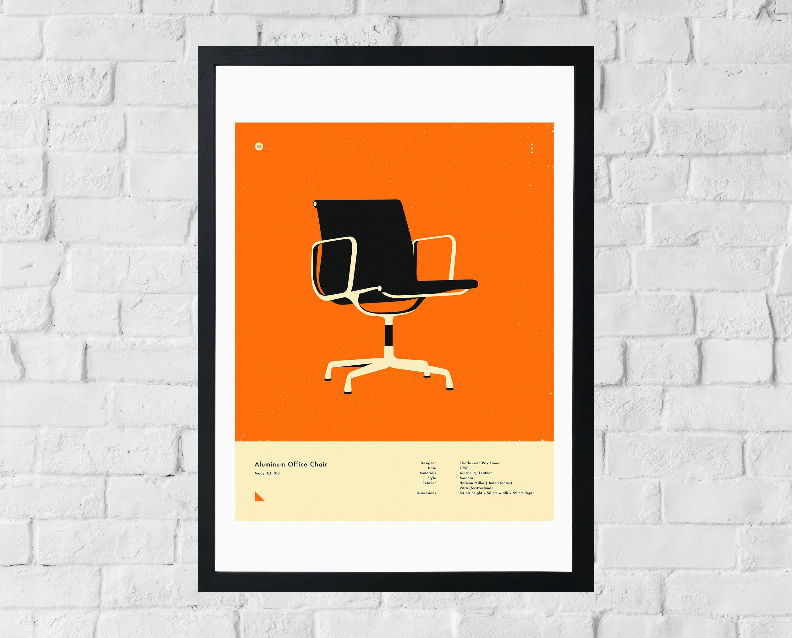 Vitra Chair Poster Timeless Design Icons Classic Chairs East End Prints Ltd