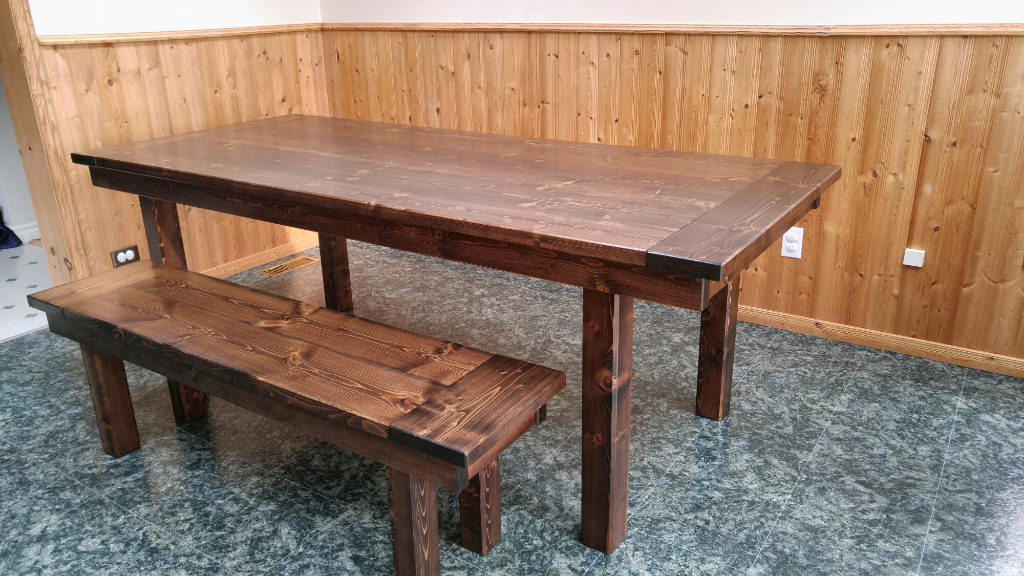 White Harvest Table Eastern Kings Rustic Timber Where Rustic Meets Refined