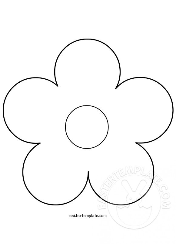 5 Petal Flower template Easter Template