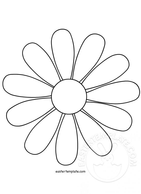 Daisy Flower Template Easter Template - flower template