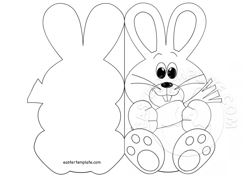 Easter Bunny Card coloring page Easter Template