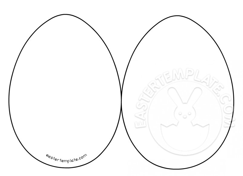Easter Egg Card Templates Easter Template