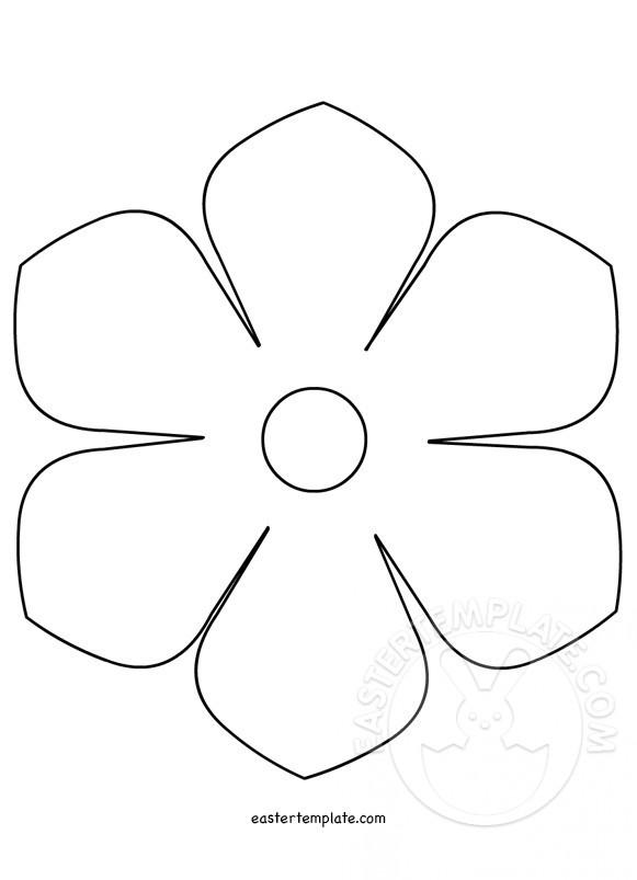 Printable flower template Easter Template - flower template