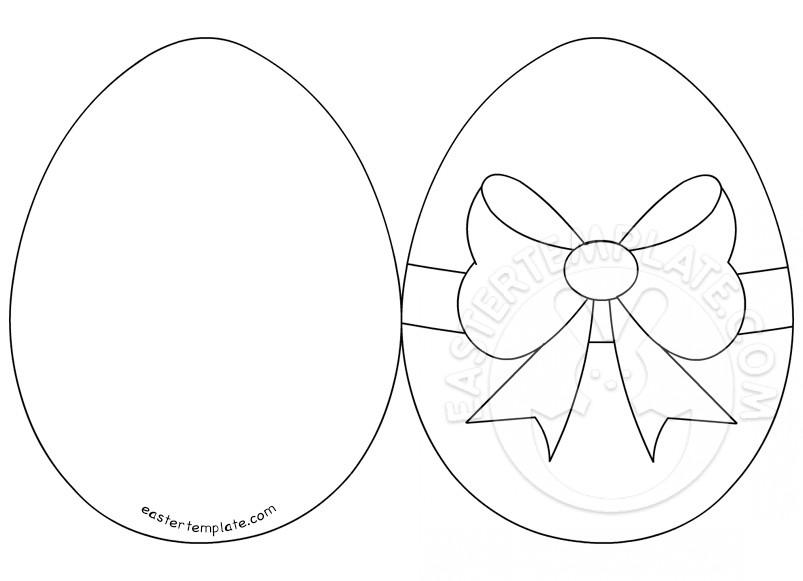 Easter Egg Card Easter Template