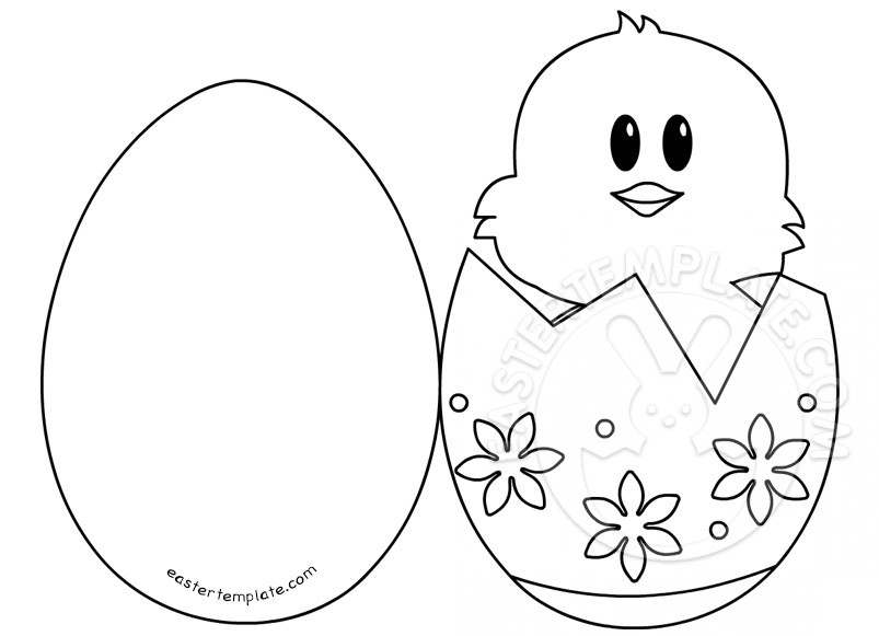 Easter Ideas \u2013 Chick in Egg card Easter Template