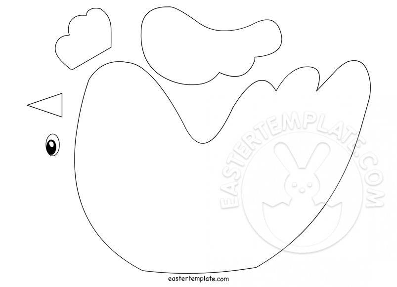 Chicken Craft template Easter Template