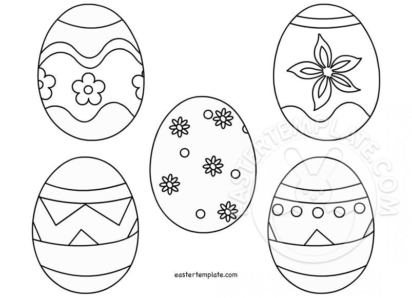 Easter Egg template printable Easter Template