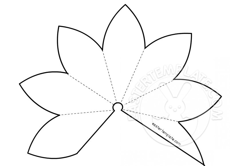 Paper Lily Template - Costumepartyrun