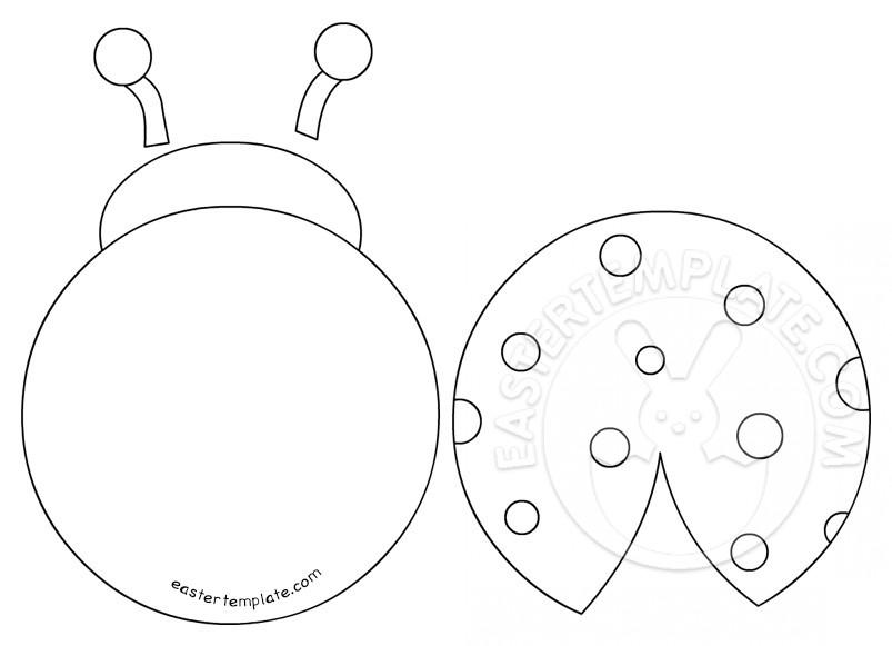 Printable Ladybug Template Easter Template
