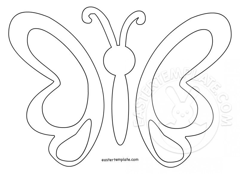 Simple Butterfly Template - Easter Template - butterfly template