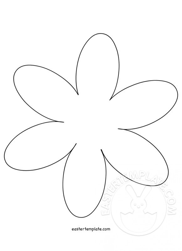 6 petal flower template Easter Template