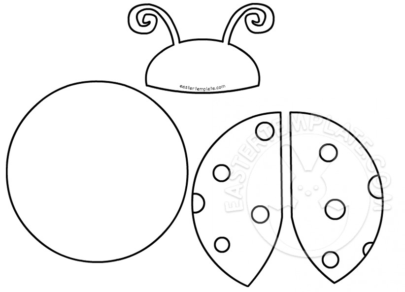 Printable Ladybug Cut Out Pattern Easter Template
