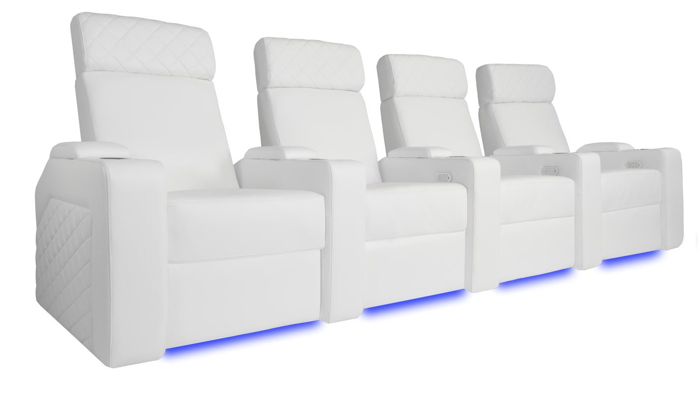 Meubles Zurich Valencia Zurich Motorized Seating White Top Grain Nappa 15000 Leather Each