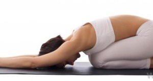 Balasana (child's pose): a common resting posture; modifications may be needed to allow maximum comfort in the pose.
