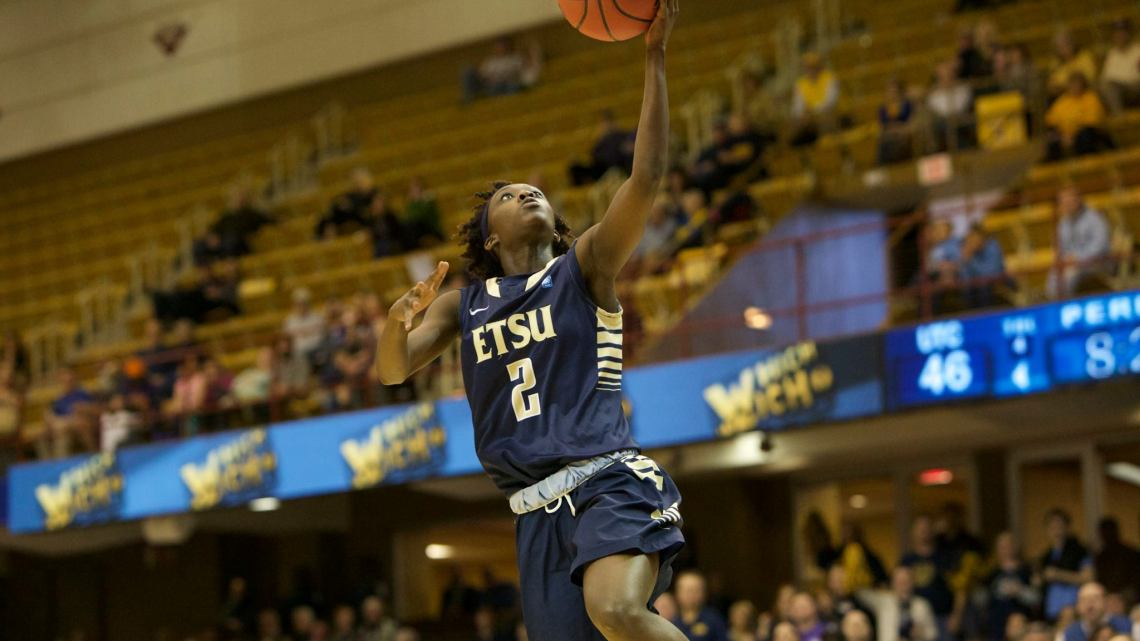 The ETSU women's basketball team will move into post-season play when it plays the North Carolina Wolfpack in the Women's National Invitation Postseason Tournament at 7 p.m. on March 19 in Brooks Gym. (Photograph Courtesy of ETSU Athletics)