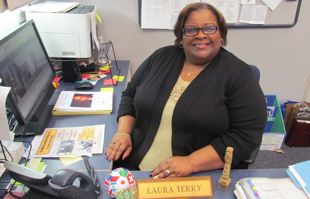 Laura Terry, director of multicultural affairs, possesses a genuine desire to serve others and encourages students to get involved with all the events the office hosts. (Photograph by Shey Gillespie/East Tennessean)