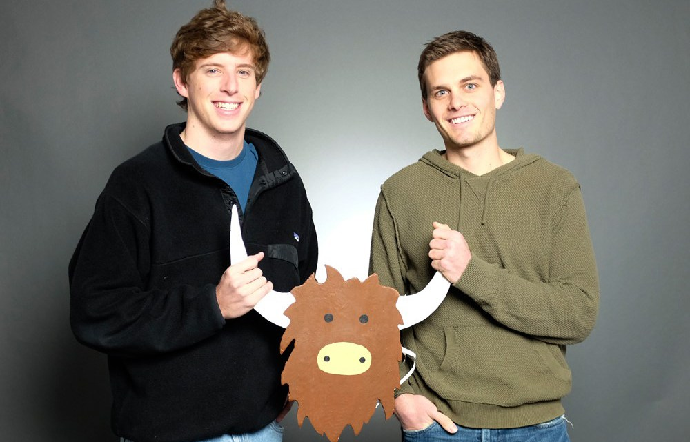 Cofounders Brooks Buffington (left) and Tyler Droll created the Yik Yak app for high school and college students to anonymously post their thoughts and opinions. After bullying became an issue for the success of the app, the cofounders implemented age requirements and campus representatives to regulate hateful, derogatory and offensive speech. (Photograph Courtesy of www.ibtimes.co.uk)